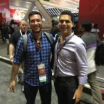Ruben from avanTIC, our number one mobile partner, snaps a pic with Yossi