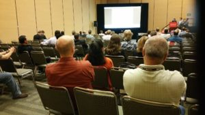 Mia and Rogers Group continue their presentation during the first session at OOW16
