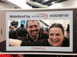 Mia and Oracle Forms Product Manager Michael Ferrante are all smiles at OOW16!
